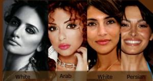 arab white difference 300x160 - بهترین لیزر موهای زائد براساس رنگ پوست مردم شهرهای مختلف ایران کدام نوع است؟