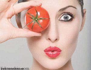 گوجه فرنگی و صورت