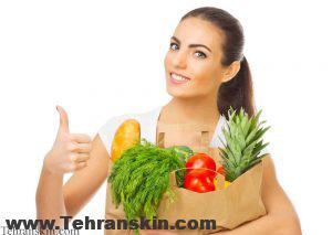 رژیم غذایی و پوست